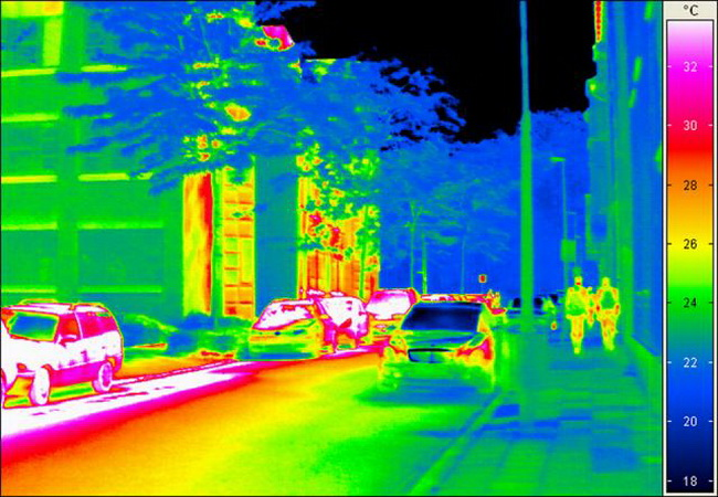 инфракрасное излучение на улице